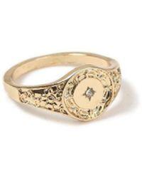 TOPMAN - Gold Pinky Ring - Lyst
