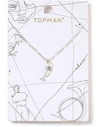 TOPMAN - Ilver Trumpet Necklace - Lyst