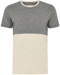 TOPMAN - Elected Homme Gray Colorblock T-shirt - Lyst