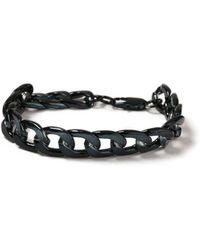 TOPMAN - Navy Chunky Bracelet - Lyst