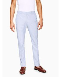 TOPMAN - Check Skinny Fit Suit Trouser - Lyst