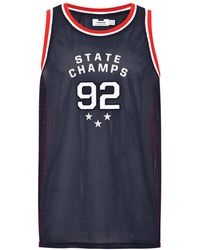 TOPMAN - Champs' Embroidered Tank - Lyst