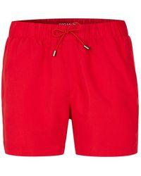 TOPMAN - Red Embroidery Swim Short - Lyst