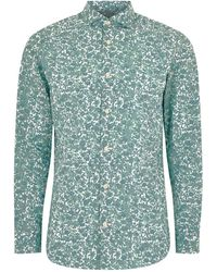 SELECTED - Blue Printed Long Sleeve Shirt - Lyst