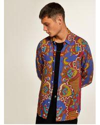 TOPMAN - Baroque Placement Slim Shirt - Lyst