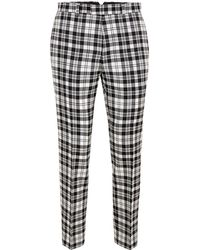 TOPMAN - Locharron X Black And White Check Skinny Suit Trousers - Lyst