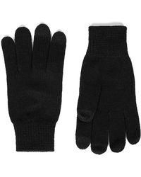 TOPMAN - Black Touch Screen Gloves - Lyst