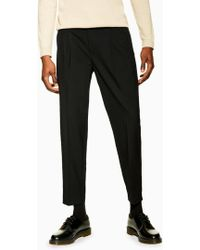 TOPMAN - Pleated Tapered Fit Smart Trouser - Lyst
