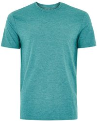 TOPMAN - Green Marl T-shirt - Lyst