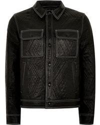 TOPMAN - Leather Lined Western Jacket - Lyst