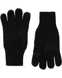 TOPMAN - Black Touchscreen Gloves - Lyst