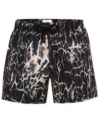 TOPMAN - Black Marble Swim Short - Lyst