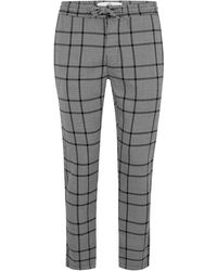 TOPMAN - Gray Skinny Fit Dogtooth Jogger - Lyst