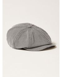 TOPMAN - Black And White Baker Boy Hat - Lyst