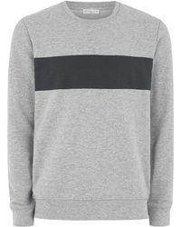 SELECTED - Grey Sweatshirt - Lyst