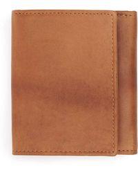TOPMAN - Tan Leather Trifold Wallet - Lyst