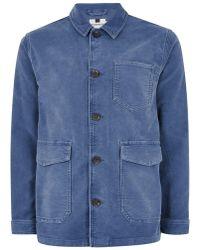 TOPMAN - Blue Worker Jacket - Lyst