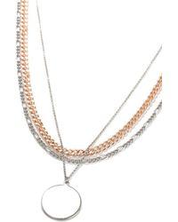 TOPMAN - Disc Necklace - Lyst