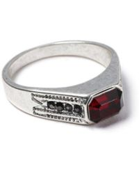 TOPMAN - Silver Stone Ring - Lyst