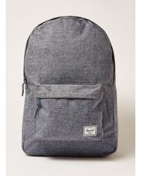 TOPMAN - Herschel Chambray Classic Backpack - Lyst
