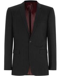 TOPMAN - Black Slim Suit Jacket - Lyst