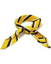 TOPMAN - Yellow Stripe Bandana - Lyst