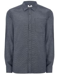Topman | Navy Textured Shirt | Lyst