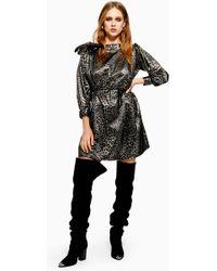 d83caba16eaa TOPSHOP - Metallic Thread Jacquard Mini Dress - Lyst