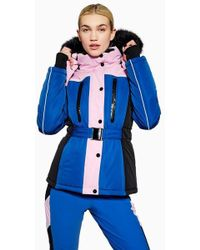 TOPSHOP - colour Block Fitted Jacket By Sno - Lyst