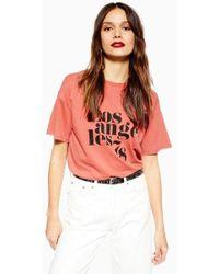 TOPSHOP - Los Angeles T-shirt - Lyst