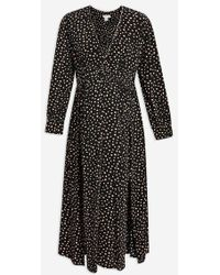 TOPSHOP - maternity Ruched Midi Dress - Lyst