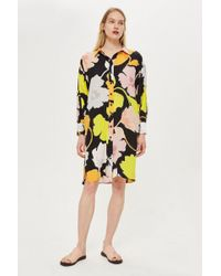 TOPSHOP - Floral Print Puff Sleeve Shirt Dress By Boutique - Lyst