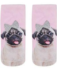 Living Royal - Pug Ankle Socks By - Lyst