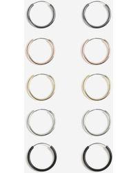TOPSHOP - Mini Hoop Earrings Pack - Lyst