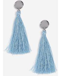 TOPSHOP - Pastel Blue Stud And Tassel Earrings - Lyst