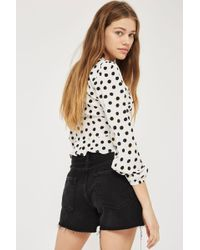 TOPSHOP - Moto Ashley Shorts - Lyst