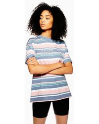 TOPSHOP - Happy Day Stripe T-shirt - Lyst