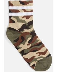 TOPSHOP - Camouflage Sporty Tube Socks - Lyst
