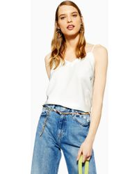 79e2e92a015f75 Lyst - TOPSHOP Slinky 90 s Camisole Top in Gray