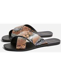 TOPSHOP - Snake Design Sandals - Lyst