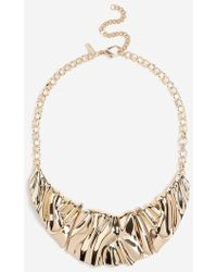 TOPSHOP - Wide Crushed Collar Necklace - Lyst