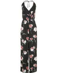 Band Of Gypsies - Floral Ruffle Jumpsuit By Band Of Gypsies - Lyst