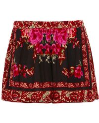 Band Of Gypsies - Rose Mix Print Shorts By Band Of Gypsies - Lyst