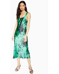 TOPSHOP Tie Dye Built Up Slip Dress