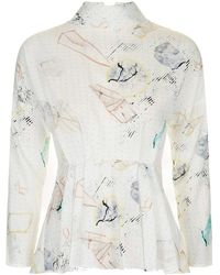 TOPSHOP - 80s Astrology Blouse - Lyst