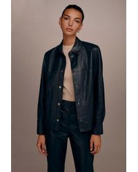 TOPSHOP - leather Pocket Shirt By Boutique - Lyst