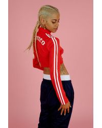 Illustrated People - Red Polo Top By - Lyst