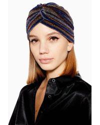 TOPSHOP - Glitter Stripe Turban - Lyst