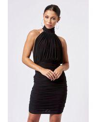 Club L - black Backless Halter Neck Mini Dress By - Lyst