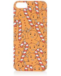 TOPSHOP - Gingerbread Man Iphone 5/5s Case - Lyst